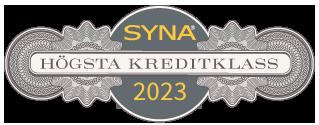 Sigillet är utfärdat av AB Syna www.syna.se