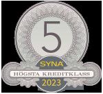 Sigillet är utfärdat av kreditupplysningsföretaget AB Syna www.syna.se<http://www.syna.se>
